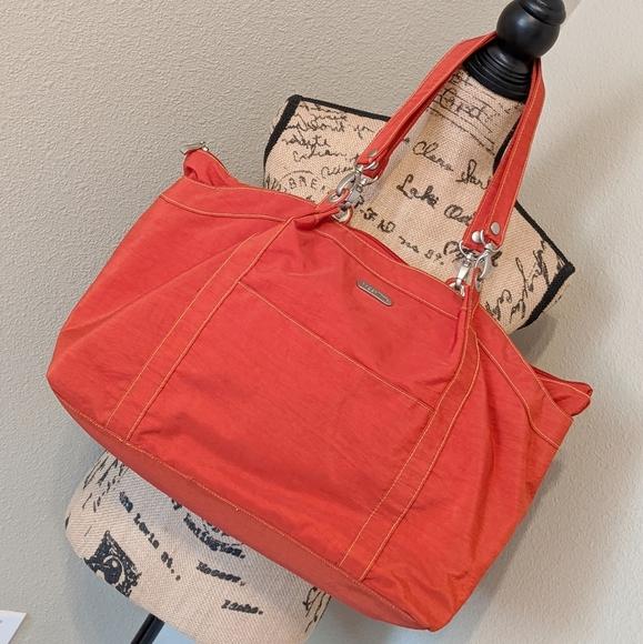 BAGGALLINI Orange Large Tote Bag